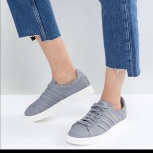 Adidas Campus snake scales grey sneakers size 8.5